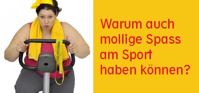 mollige spaß am sport