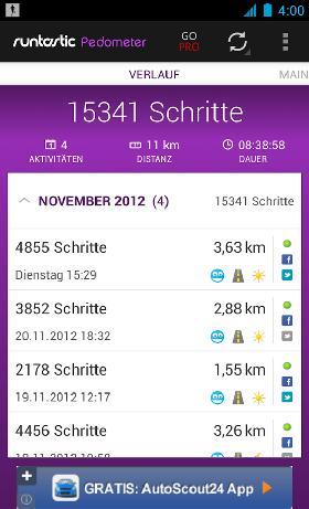 Pedometer-App