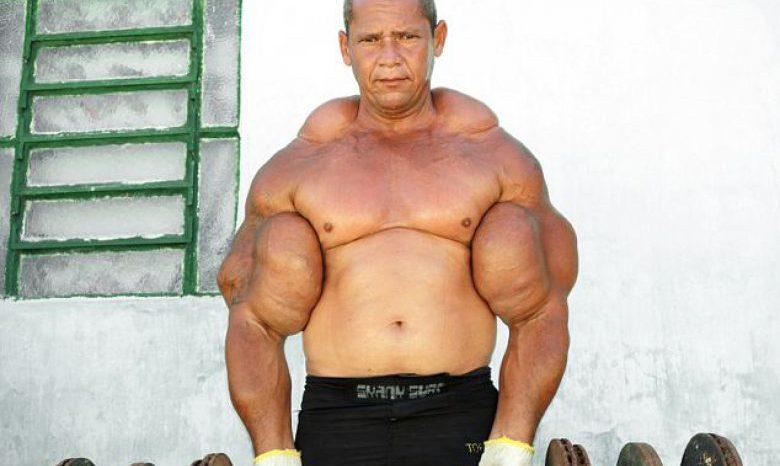 Arlindo de Souza grössten Oberarmmuskeln der Welt