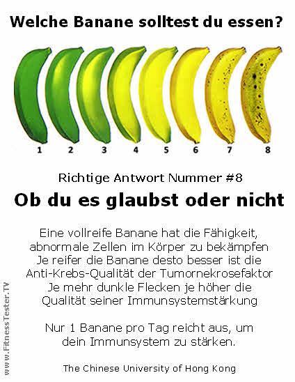 Bananen dein arzt im gelben kittel