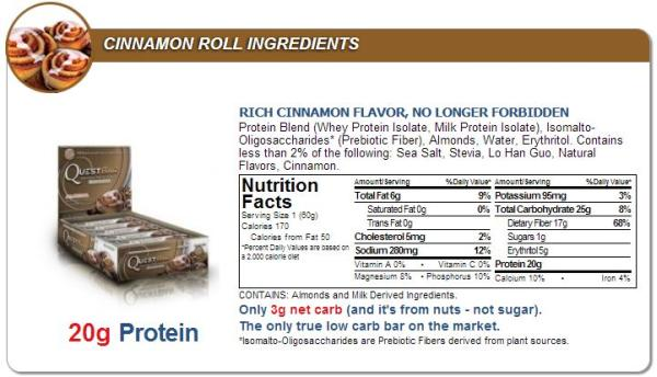 Quest Bar Chocolate Peanut Butter Ingredients