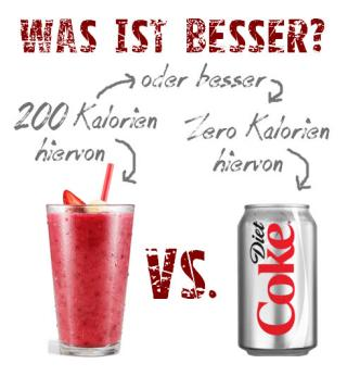 smoothie vs. cola light was ist besser