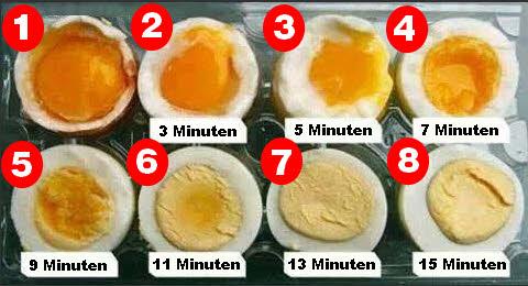 Eier kochen für den Muskelaufbau