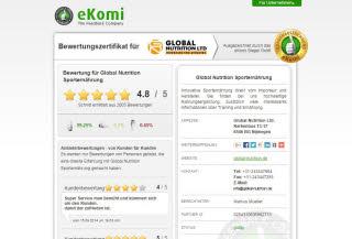 Bewertungen auf www.ekomi.de