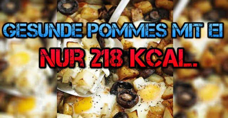 Pommes Frites mal gesund mit ei in nur 60 Minuten fertig / 218 kca.