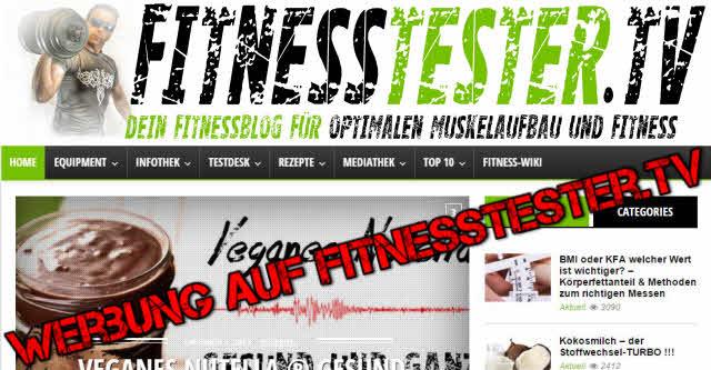 Werbung auf FitnessTester.TV