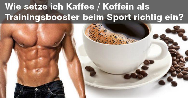 Kaffee eine Stunde vor dem Training