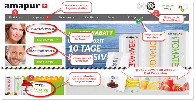 amapur diät online bestellen - schritt für schritt erklärt