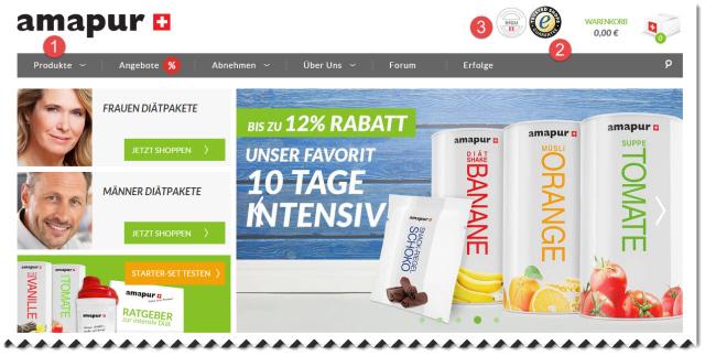 amapur diät online bestellen ist sicher durch trusted shops und bietet einen käuferschutz bis 2500 euro