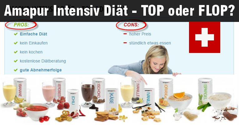 Der ideale Mahlzeitenersatz die amapur intensiv Diät