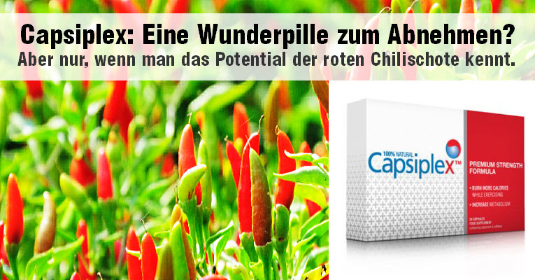 Capsiplex Diätpille Fettverbrenner beinhaltet den wirksamen Inhaltstoff Capsicum