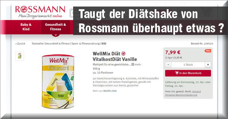 Wellmix Vitalkostdiat Von Rossmann Diat Erfahrungen