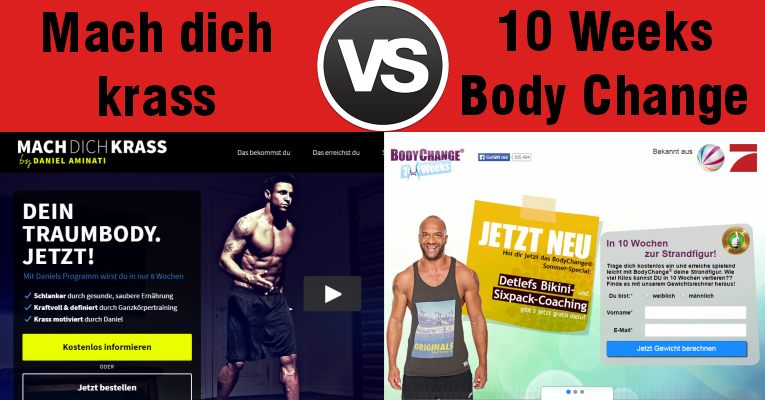 Mach dich krass vs. 10 Weeks BodyChange Program - Daniel Aminati gegen Detlef D! Soost