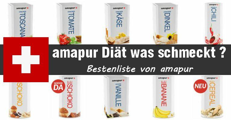 amapur diät was schmeckt am besten - ein große auswahl wie die von amapur macht das aussuchen nicht leichter