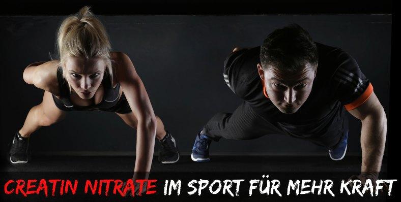 Creatin Nitrate für mehr Kraft beim Workout