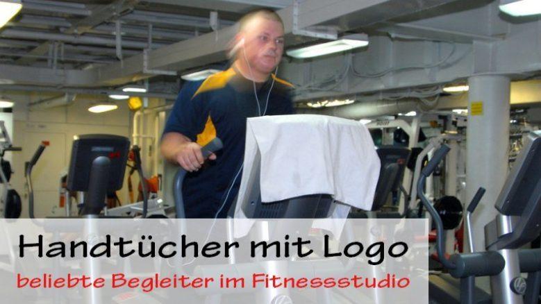Handtuch mit Logo im Fitnessstudio