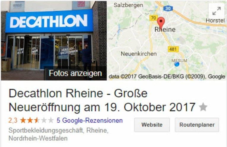 Decathlon Rheine - schlechte Bewertungen begründet?