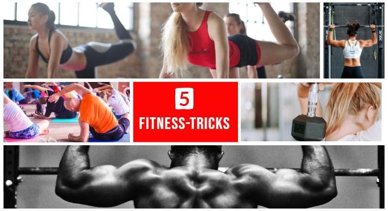 Fünf Fitness Tricks für Zuhause